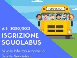 A.S. 2020/2021 - Iscrizione servizio scuolabus