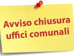 Comunicazione chiusura uffici Tecnico e Servizi sociali